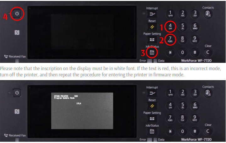 Chipless Firmware Epson WF-C5710, PX-M884F